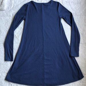 Forever 21 Dresses - FOREVER 21 BLUE LONG SLEEVE DRESS
